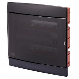 DECORATIVE ENCLOSURE - FLUSH MOUNTING - PRE-ARRANGED FOR HOUSING TERMINAL BLOCKS - 330X338X28 - TONER BLACK - 24 +2 (12x2) MODULES