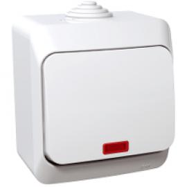 WDE000514 Switch, 1-pole, lamp, white