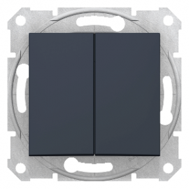 Sedna - 1pole 2-circuits switch - 10AX without frame graphite