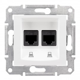 SEDNA Double data outlet white SDN4400121