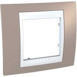 Rama simpla ocru Schneider Electric Unica Plus insert alb, MGU6.002.874, ocru