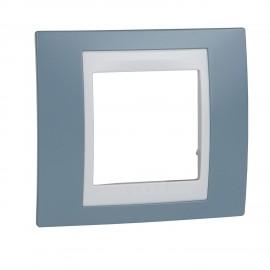 Rama simpla Schneider Electric Unica Plus insert alb, MGU6.002.873, albastru mangan