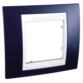 Rama simpla Schneider Electric Unica Plus Insert alb, MGU6.002.842, albastru indigo