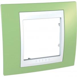 Rama simpla Schneider Electric Unica Plus insert alb, MGU6.002.863, mar verde
