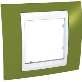 Rama simpla Schneider Electric Unica Plus insert alb, MGU6.002.866, fistic