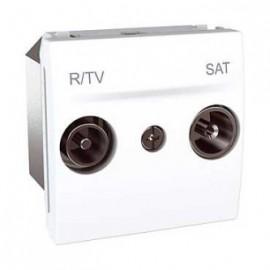 MGU3.456.18 Unica - R-TV/SAT socket - intermediate socket - white