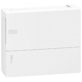 Mini Pragma Schneider Electric Surface Enclosure, 1 X 12 Modules, Plain Door, IP40