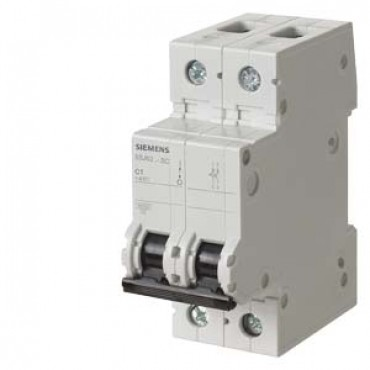 CIRCUIT BREAKER 400V 6KA, 2-POLE, C, 20A, D=70MM Siemens