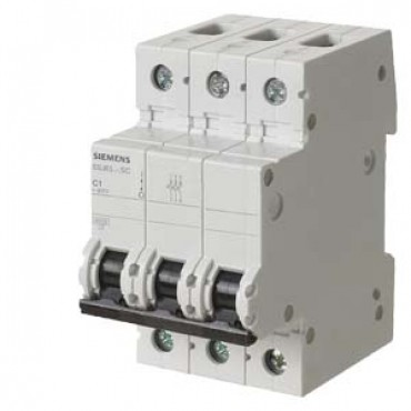 CIRCUIT BREAKER 400V 6KA, 3-POLE, C, 40A, D=70MM Siemens