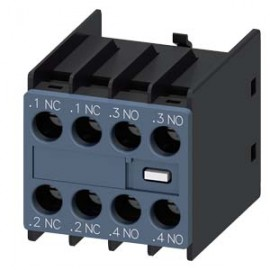 AUX. SWITCH BLOCK , 2NO+2NC COND. PATHS: 1NC, 1NC, 1NO, 1NO, F. CONT. RELAYS A. MOTOR CONT. SZ S00 AND S0, SCREW TERMINAL SIEMENS