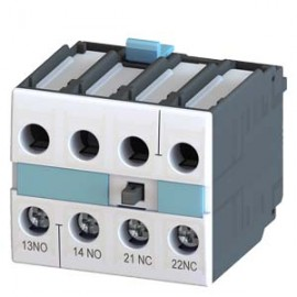 AUX. SWITCH BLOCK,1NO+1NC, DIN EN 50005, CABLE ENTRY FROM BELOW, SCREW CONNECTION, FOR CONTACTORS FOR SWITCHING MOTORS, 2-POLE Siemens