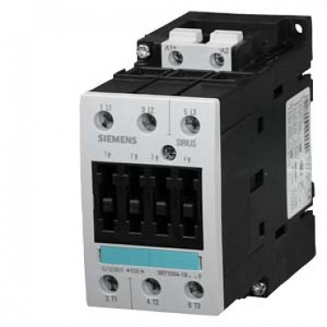 CONTACTOR, AC-3 18.5 KW/400 V, DC 24 V, 3-POLE, SIZE S2, SCREW CONNECTION Siemens