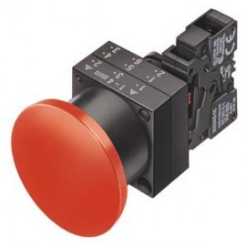 PUSH-PULL BUTTON 40MM LATCHING W.PULL-TO-UNLOCK MECH. SCREW TERMINAL, 1NO+1NC WITH HOLDER RED Siemens