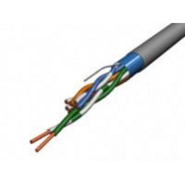Cablu structurat, ecranat cu folie de aluminiu, pentru transmitere date FTP (CAT.5E) 200MHZ 4 x 2 x AWG 24 PVC