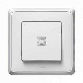 Intrerupator cap-scara cu LED Legrand Cariva, alb