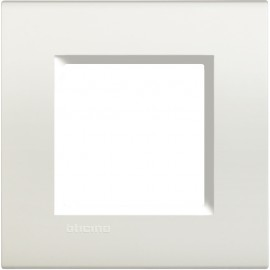 Living Light square cover plate 2 modules - white - material: technopolymer