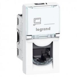 076561 Legrand Mosaic RJ 45 socket Mosaic - category 6 UTP - 1 module - white