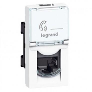 076552 Legrand Mosaic RJ 45 socket Mosaic - category 5e FTP - 1 module - white