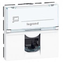 076554 Legrand Mosaic RJ 45 socket Mosaic - category 5e UTP - 2 modules - white