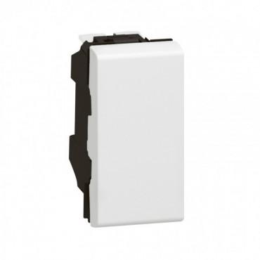 077030 LEGRAND MOSAIC Push-button Mosaic - 6 A 250 V~ - 1 module - white Legrand Mosaic 077030