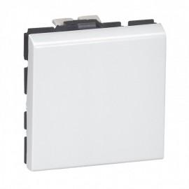 077041 LEGRAND MOSAIC 2-way push-button Mosaic - 6 A 250 V~ - 2 modules - white