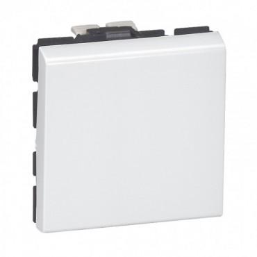 077011 LEGRAND MOSAIC 2-way switch Mosaic - 10 AX 250 V~ - 2 modules - white