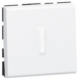 074012 Legrand Mosaic 10AX 2W SWITCH WITH INDIC (2M)