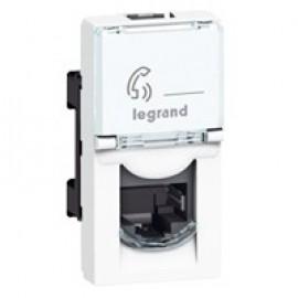 078680 Legrand Mosaic RJ45 Socket CAT.5E FTP Legrand Mosaic, 1 M, White