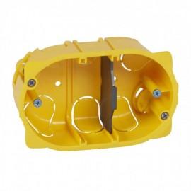 080049 LEGRAND MOSAIC Flush mounting box Batibox - 3 modules Mosaic/Vela - depth 40 mm -dry partitions