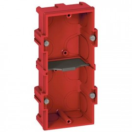 080142 LEGRAND MOSAIC Flush Mounting Box Batibox - Square 2 Gang 5 M Depth 40 Mm - Masonry