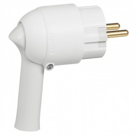 2P+E plug - 16 A - Fr/German standard - easy extraction - white - gencod labelling Legrand 050175