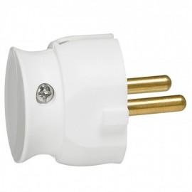 2P plug - 16 A - plastic extra slim - white - gencod labelling Legrand 050183