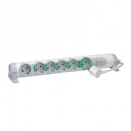 Bloc multipriza pentru confort si siguranta 6x2P+T, cordon de 1,5m