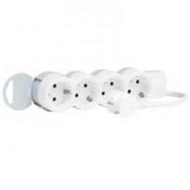 Multi-outlet extension - 4x2P+E - 5 m cord Legrand 695008